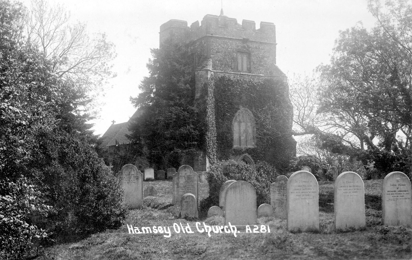 Old graveyard in the early 1900s